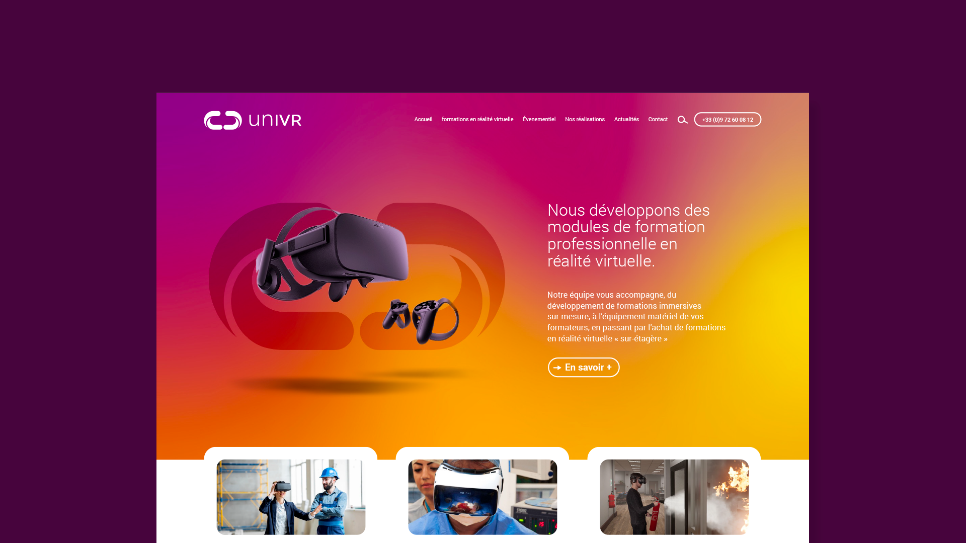 Homepage site internet uniVR